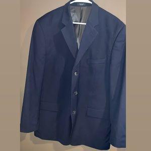 Jones New York navy men's wool suit jacket